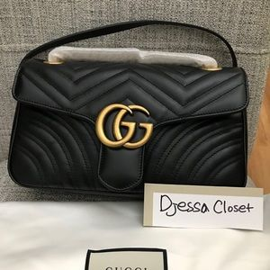 BRAND NEW GUCCI GG MARMONT IN SMALL FLAP
